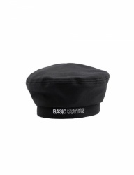 [BASIC COTTON] basic beret [black]