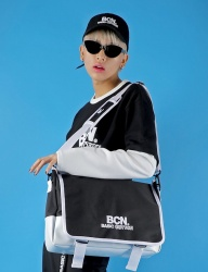 [BASIC COTTON] BCN messenger bag [black]