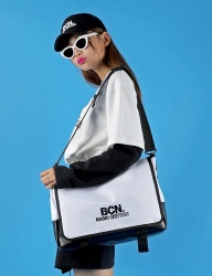 [BASIC COTTON] BCN messenger bag [white]
