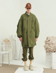 [13month] EMBROIDERY LONG FIELD JACKET (KHAKI)