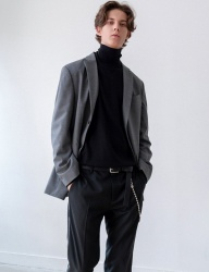 [INSILENCE] WOOL SET UP JACKET (grey)
