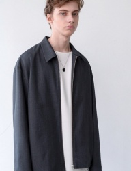 [INSILENCE] FRONT ZIP JACKET (grey)