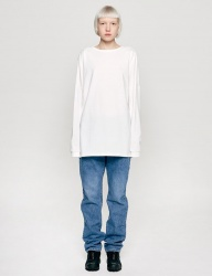 [INSILENCE] SOLID CREW NECK LONG SLEEVES (white)