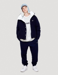 [WKNDRS] W LOGO SWEAT PANTS (NAVY)