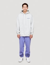 [WKNDRS] W LOGO SWEAT PANTS (PURPLE)