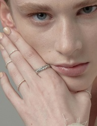 [090FACTORY] [Silver] Double stitch Ring