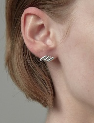 [090FACTORY] [Silver] Stitch Earring