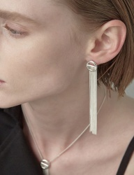 [090FACTORY] [Silver] Buckle Earring (Silver,Gold)