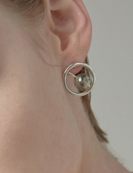 [090FACTORY] [Silver] Expand thread Earring (Green, Blue)