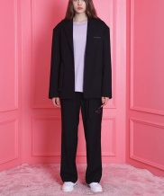 [WaiKei] WaiKei Relax Straight long Pants_Black