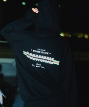 [HOMMMIE] [HOMMMIE]21c Come back hoodies zip-up (black)