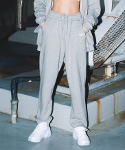 [HOMMMIE] [HOMMMIE]21c sports jogger pants (m-grey)
