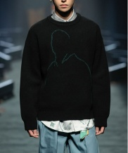[FREIKNOCK] OUTLINE DRAWING KNIT PULLOVER