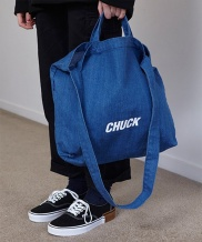 [CHUCK] CHUCK LOGO DENIM 2WAY BAG