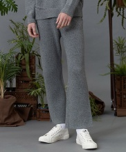 [replaycontainer] RC lambs wool knit slacks (gray)