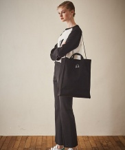 [Maison de Ines] LOVER'S STREET POINT LONG SQUARE CANVAS BAG