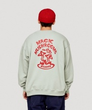 [WKNDRS] MAGIC MUSHROOMS CREWNECK (L.KHAKI)