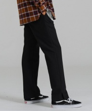 [costume oclock] SLIT 2H LINE SLACKS BLACK