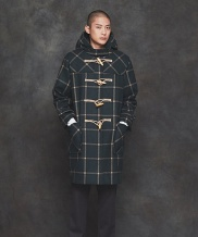 [PRAIRIE] HEAVY WOOL CHECK DUFFLE COAT