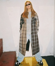 [B ABLE TWO] Patchwork Check Trench Coat