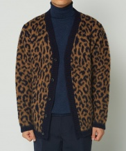[whatever we want] LEOPARD MOHAIR CARDIGAN