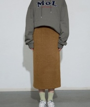 [MOL BY MORE OR LESS] LONG KNIT SKIRT