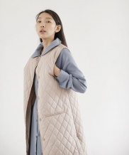 [NONLOCAL] Quilted Long Vest