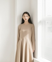 [NONLOCAL] Heavy Weight Flared Dress