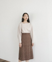 [NONLOCAL] Dot A-line Skirt