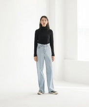 [NONLOCAL] High-waist Crop Jean