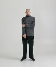 [STONYSTRIDE] HALF NECK OVERFIT TURTLENECK - GRAY