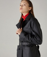 [SPERONE] Trench Midi Leather Jacket
