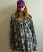 [MAINBOOTH] 8F Wool Check Shirt