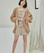 [Sorry, Too Much Love] Tweed Strap Dress