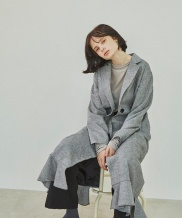 [Sorry, Too Much Love] Single Button Ruffle Coat