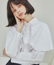 [Sorry, Too Much Love] Classic Cape Blouse