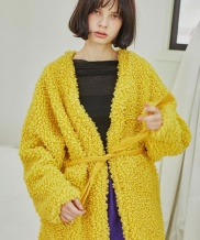 [Sorry, Too Much Love] Eco Curly Fur Coat