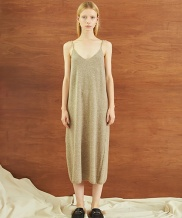 [TMO BY 13MONTH] STRAP KNIT ONE PIECE