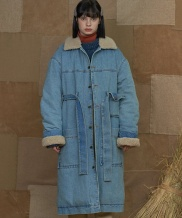 [UNALLOYED] DENIM SHERPA COAT