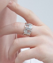 [090FACTORY] [Silver] Pattern oval RIng