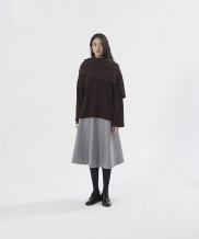 [NONLOCAL] Wool Flared Skirt
