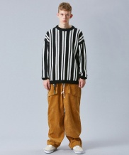 [VOIEBIT] V255 SOLID CORDUROY WIDE PANTS