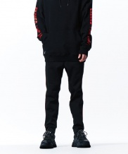 [overtheone] 042 RED LINE BLACK JOGGER PANTS