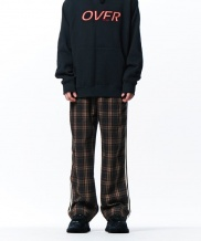 [overtheone] 113 CHECK PATTERN SIDE LINE PANTS