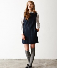 [INES] SMART GREEN STRIPE ONE-PIECE