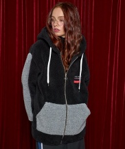 [AT THE MOMENT] Poodle Zip-up Hoodie