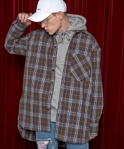 [AT THE MOMENT] Wool Check Shirt