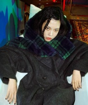 [CLUTSTUDIO] reversible fur hood muffler [CHECK]