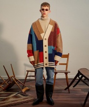 [TRUNK PROJECT] Color Mixed Wool Cardigan Jacket