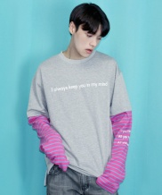 [CODEI'M] LOVE FOREVER LS LAYERED SLEEVE T-SHIRT